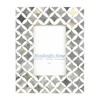 Amazon.com - Handicrafts Home 4x6 Photo Frame Grey White Bone Mosaic ...