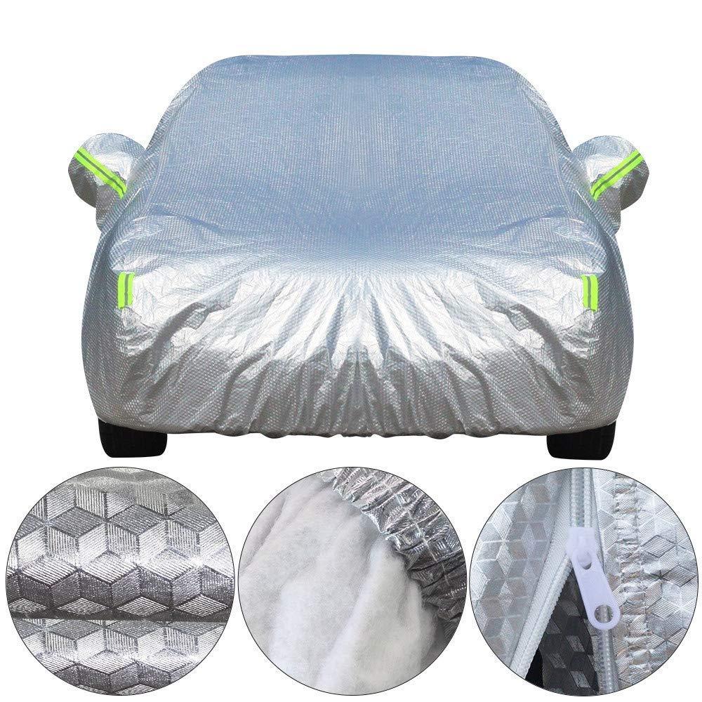 車のカバー防水厚い車のカバー3層アルミ箔+ポリエステルタフタ+コットン防水サンレインヘイル耐性オートカバー (色 : 2L)  2L B07S3TQFGR