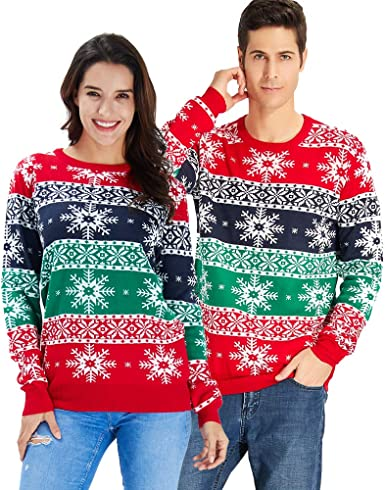Goodstoworld Jersey Navidad Adulto Hombre y Mujer Novedad