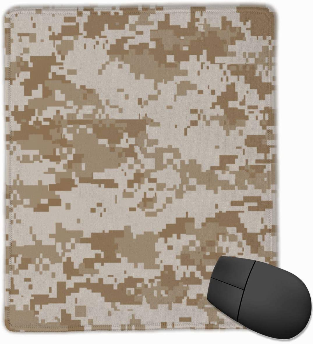 Digital Desert Camo Mouse Mat Cute Mouse Pad Rubber Base Mousepad with Stitched Edge Waterproof Office Mouse Pad 7X8.6 Inch