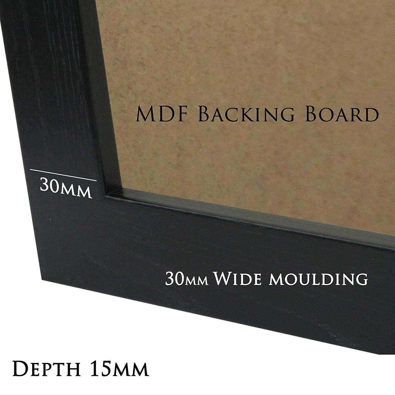 Gold, A1 33.1x23.4 IN 84.1x59.4 CM JD Frames Picture Photo Poster Frame Black Beech Gold Silver Mahogany White FLAT Shape Moulding