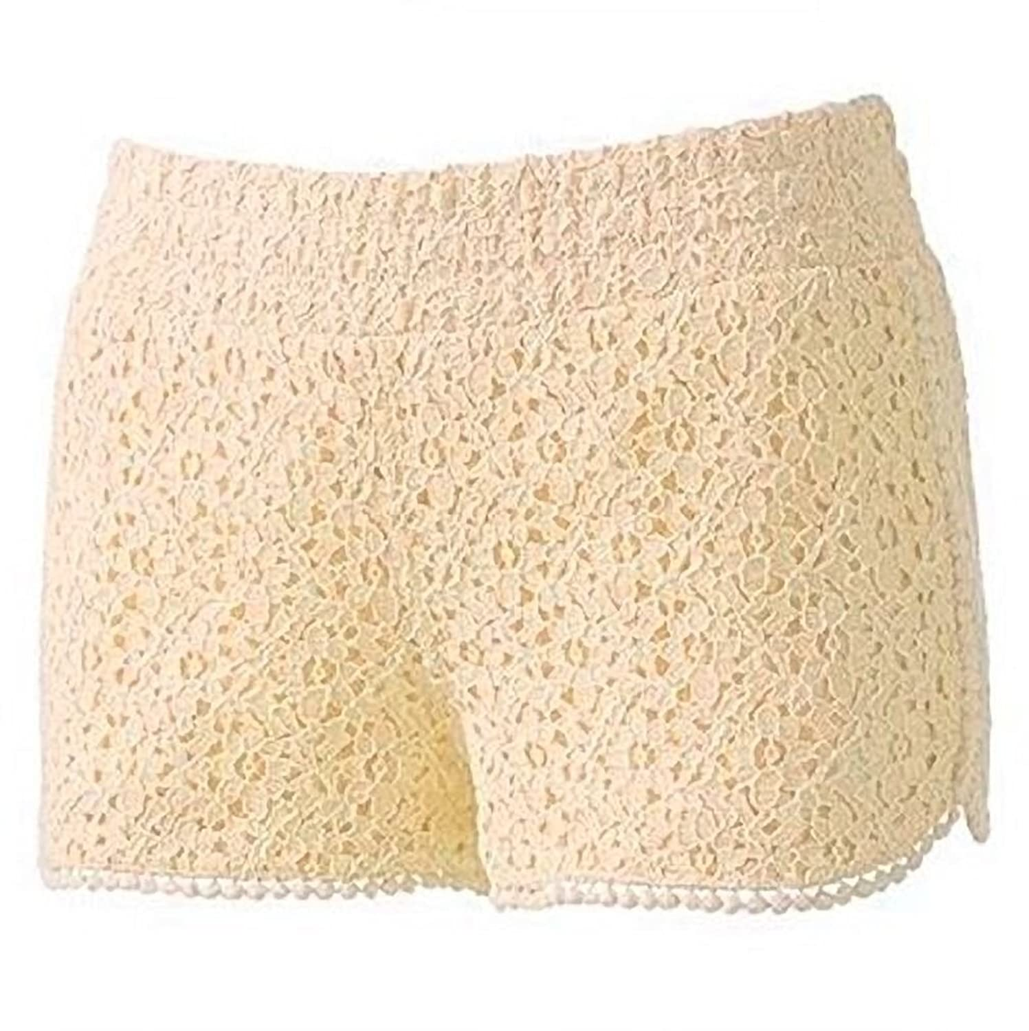 Tinseltown Lace Shortie Flat Front Shorts Juniors Small