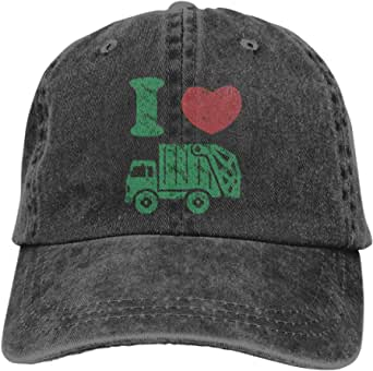 Waldeal Toddler Boys' I Love Garbage Truck Hat Distressed Adjustable Kids Trash Baseball Cap