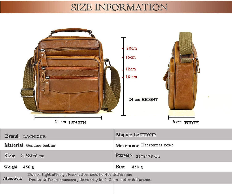 Brown Men Messenger Bags Leather Handbags for Man Male Bag for Mini Pad Boy Shoulder Bag