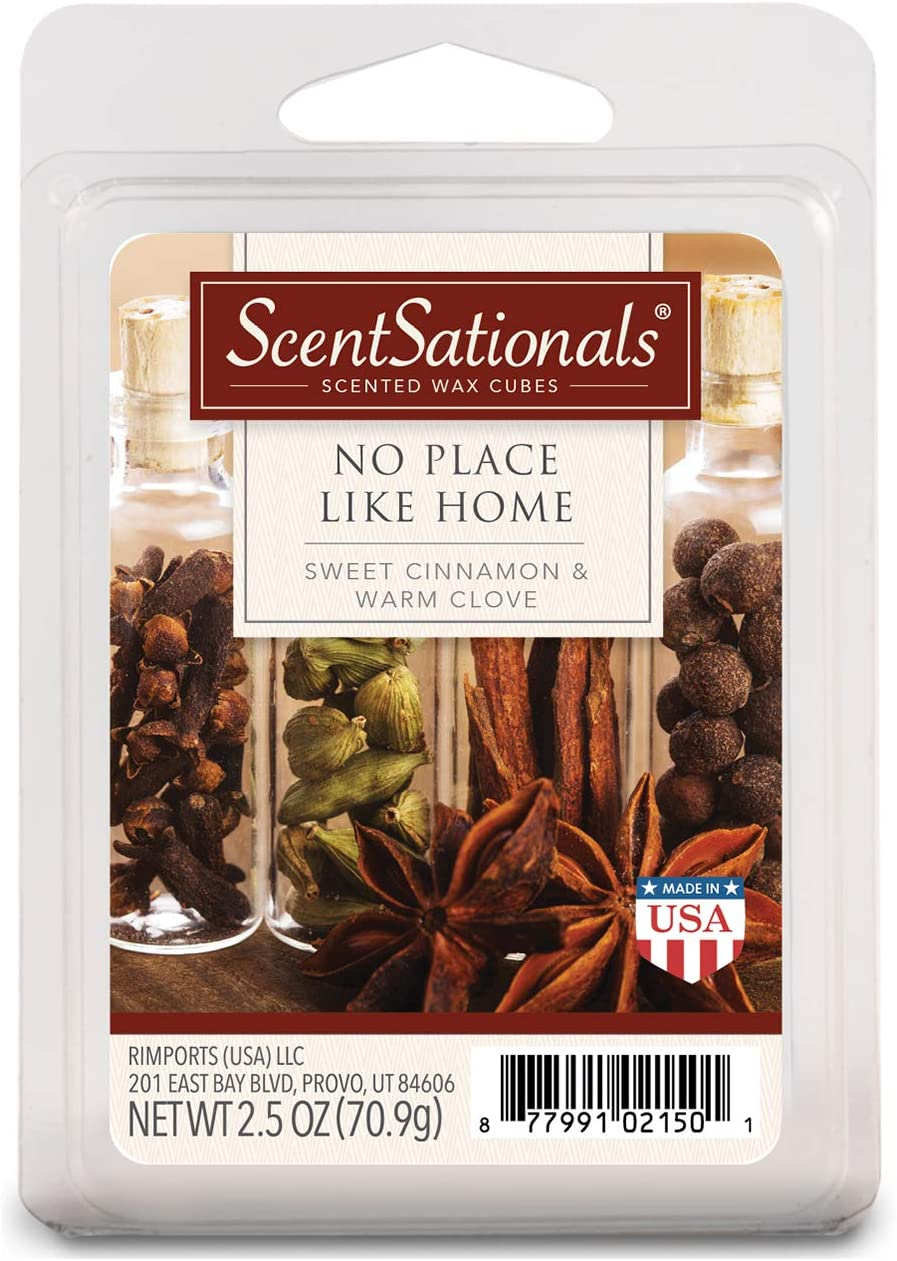 Scentsationals 001-40132-4PK Place Like Home 2.5 oz Scented Fragrant Wax Melts-4 Pack, Red