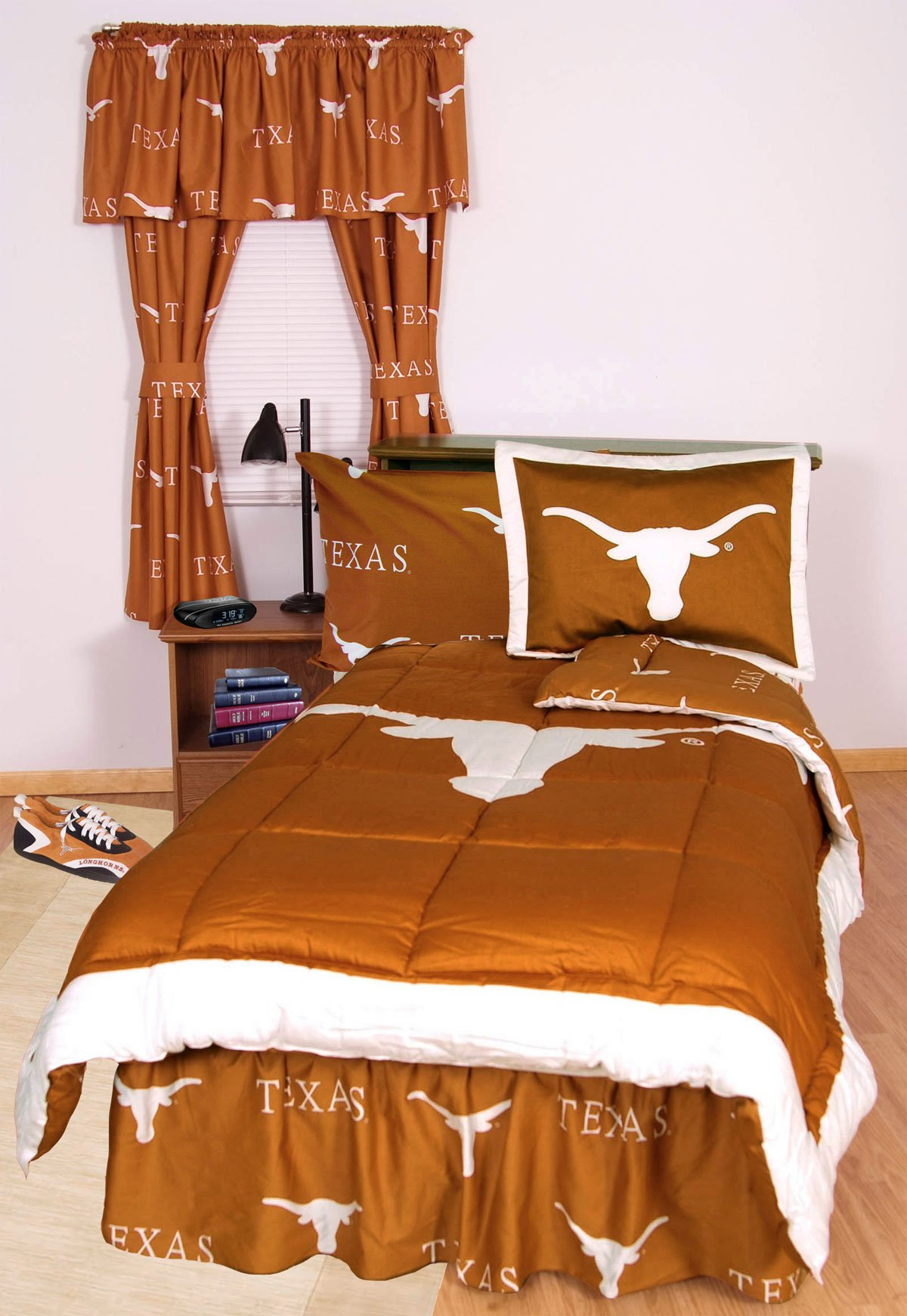 College Covers Texas Longhorns Printed Sheet Set - King - Solid by College Covers