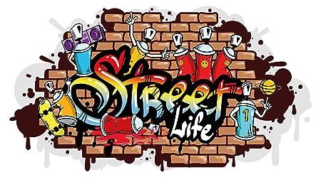 I Love Wandtattoo WAS 10610 Youth Room Wall Sticker U0026quot;Street Life