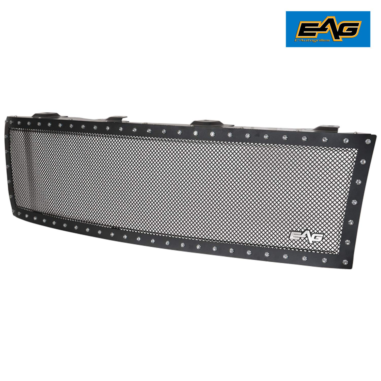 EAG Rivet SS Wire Mesh Grille Fit for 2007-2010 Chevrolet Silverado 2500HD//3500HD
