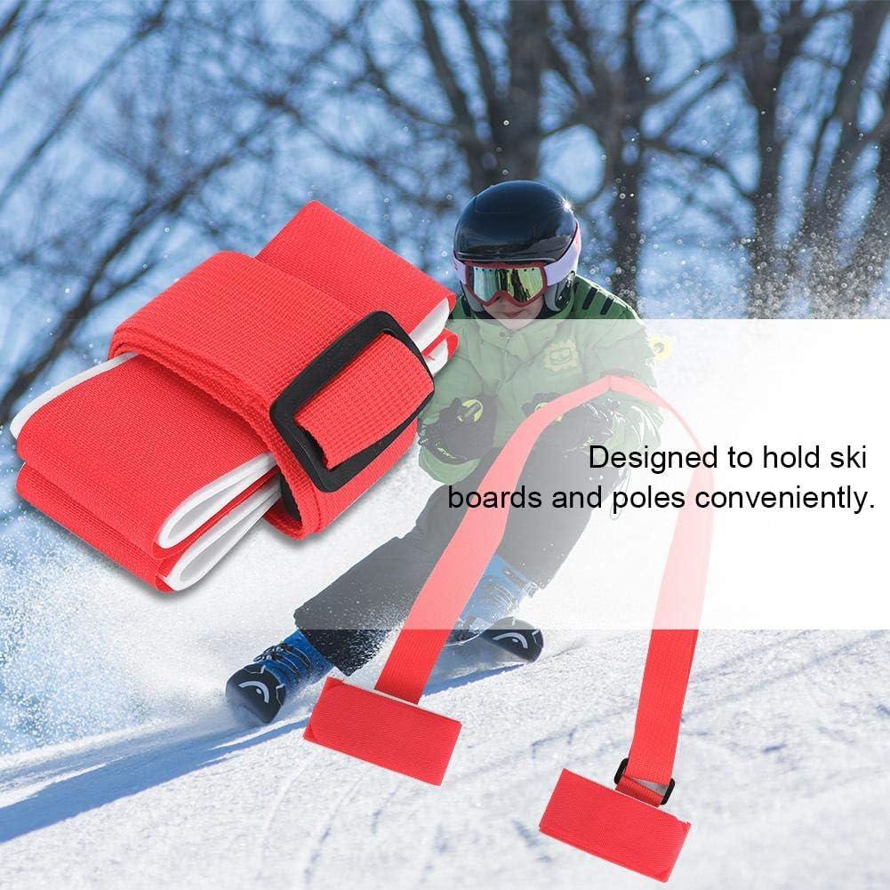 Fafeims Correas de sujeci/ón de esqu/í de Nylon Portaespaldas de Snowboard de esqu/í Honda de Hombro de Snowboard Ajustable