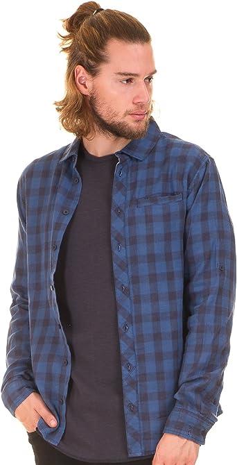 BLEND Camisa Cuadros Azul Hombre (M - Azul): Amazon.es: Ropa