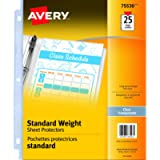 Avery Standard Weight Sheet Protectors, Acid-Free, Archival Safe, Top Loading, Fits A4 Letter Size, 8.5' x 11', 25…