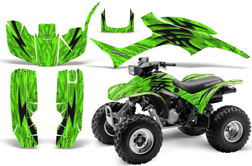 CreatorX Honda Trx 300 Graphics Kit Decals Stickers Tribal Bolts Green