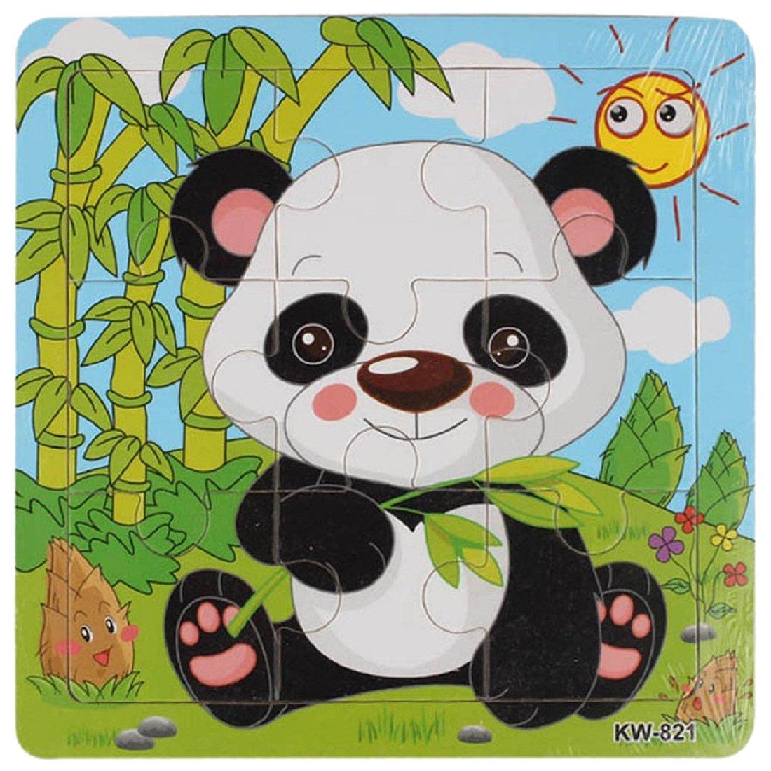 Enfants Puzzles SODIAL R 1 set Enfants Motif petit Elephant Puzzles en bois