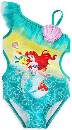 0a4f6e51f3549 Amazon.com: Disney Store Little Girls' Ariel Swimsuit: Clothing