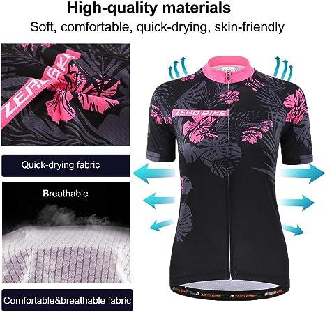 Women Cycling Short Sleeve Shirt Quick Dry Biking Bicycle Jersey ROSEO US Size Small