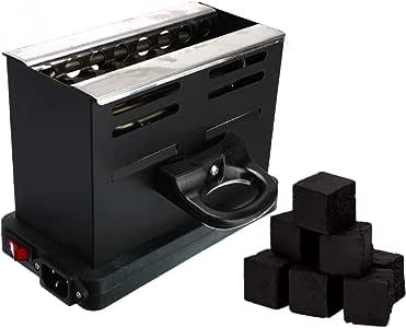 HORNILLO ELECTRONICO CACHIMBA |encend eléctrico para carbón de Shisha | (1000W COCINA ELECTRICA | Encendedor negro)| horno para shisha | hornillo cachimba electrico para 6 cubos de carbon: Amazon.es: Salud y cuidado personal
