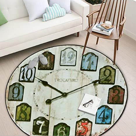 Amazon.com: Retro Moda Reloj despertador Alfombra ...