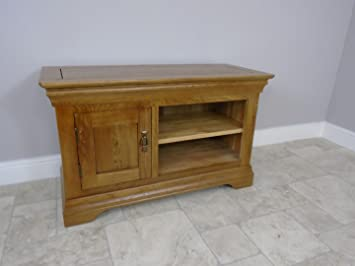 DESIGNER SOLID OAK 1 CUPBOARD EX DISPLAY SMALL TV UNIT LIVING ROOM FURNITURE  WH# Part 84