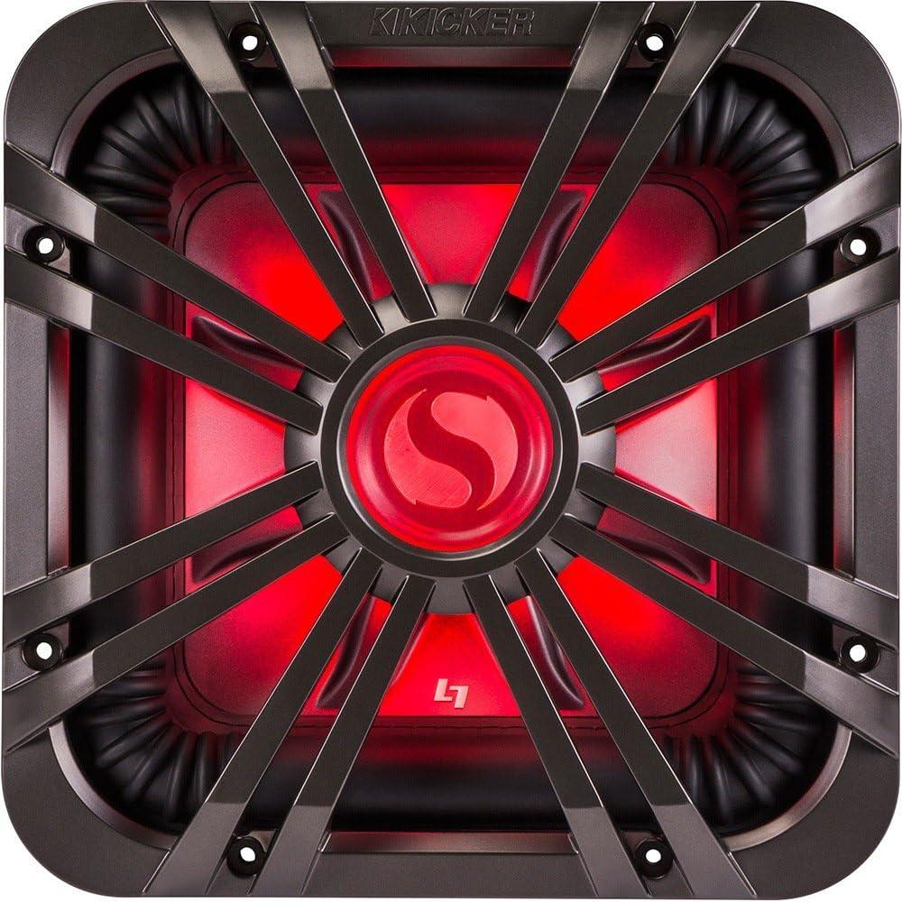 11L710GLC Kicker L710GLC 10 Square Subwoofer LED Grill