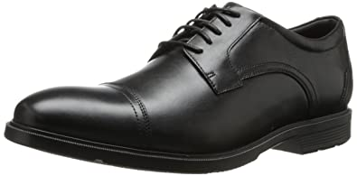 Rockport Men's City Smart Cap Toe Oxford Black 9.5 W (EE)-9.5 W