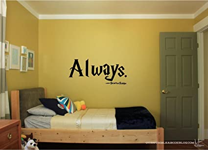 Lovely Quote It   Severus Snape Always   Harry Potter Vinyl Wall Decals Quotes  Inspirational