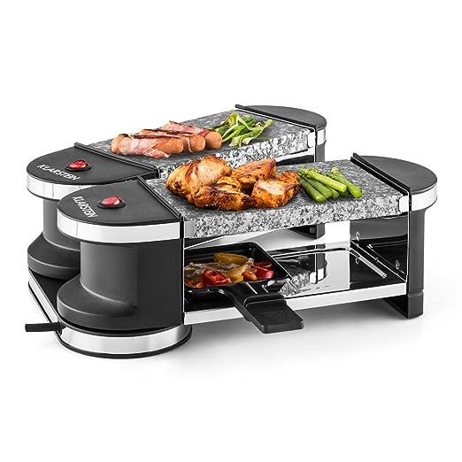 7 opinioni per Klarstein Tenderloin mini raclette, griglia (600 Watt, due piastre e pentolini,