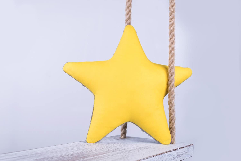 colore: giallo Amilian morbido cuscino decorativo a forma di stella circa 28 cm