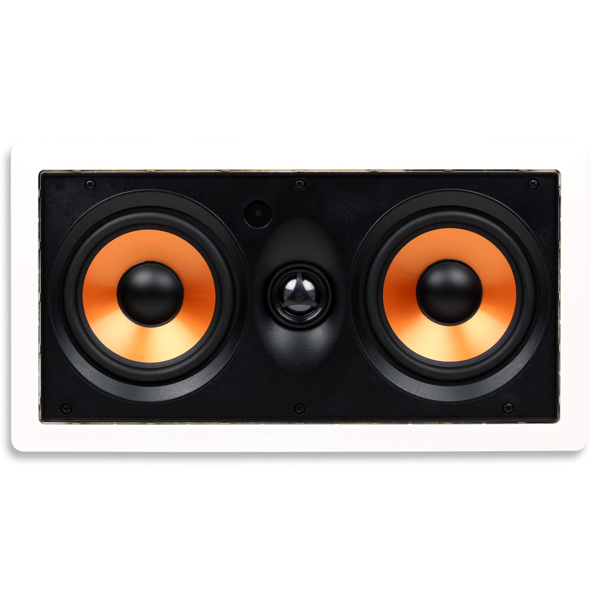 "Micca M-CS Dual 5.25 Inch 2-Way MTM in-Wall Speaker with Pivoting 1"" Silk Dome Tweeter (Each, White)"