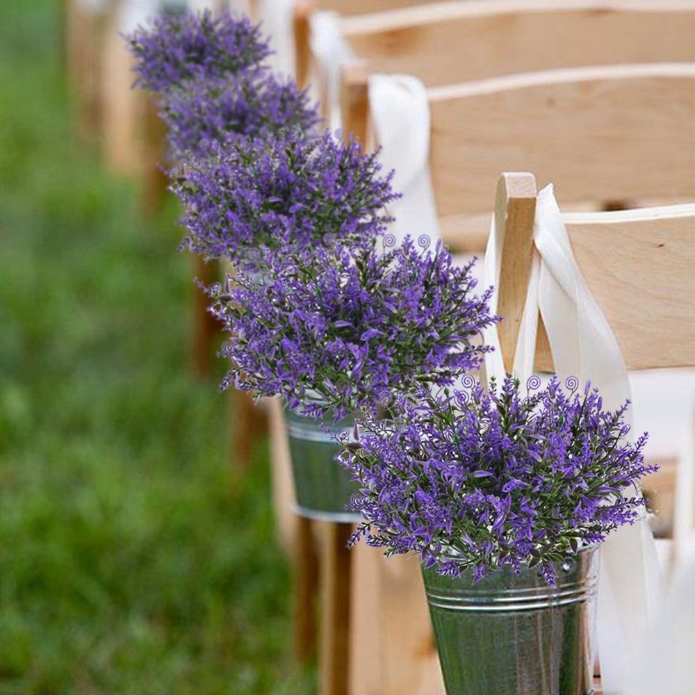 Huaesin lavanda planta artificiales flores de plastico for Plastico para estanques artificiales