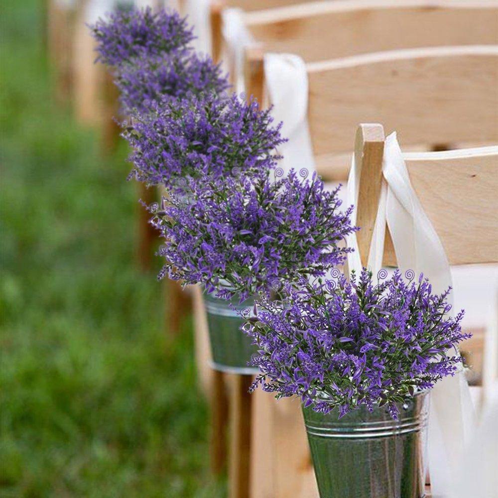 Huaesin lavanda planta artificiales flores de plastico for Plastico para estanques artificiales