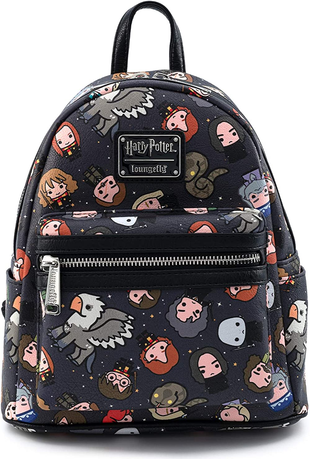 Loungefly Harry Potter Characters All Over Print Womens Double Strap Shoulder Bag Purse