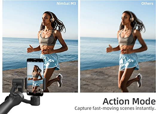 Inception Mode Sport Mode Smart Tracking VanTop Nimbal M3 Handheld 3-Axis Gimbal Stabilizer for Smartphone w//Hitchcock Effect Time-Lapse for Vlog Youtuber Live Video