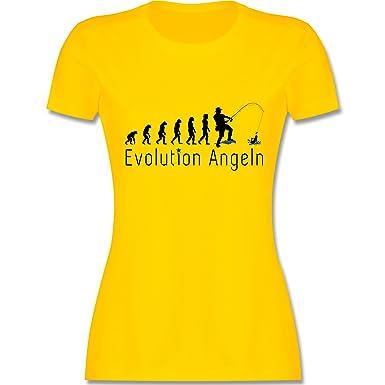Evolution - Angler Evolution - S - Gelb - L191 - Damen T-Shirt Rundhals
