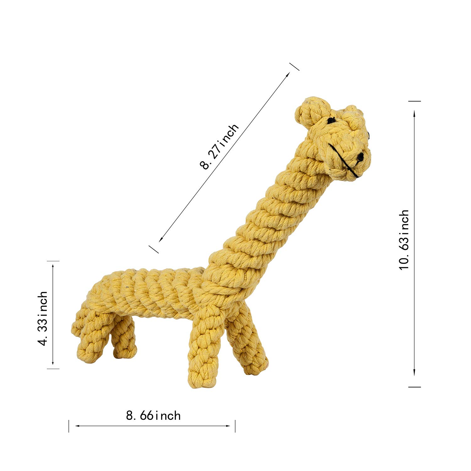 color 8 OneSize color 8 OneSize Dog Chew Toy Small to Medium Sized Dogs Interactive Pet Play Training Toy Animal Design Big Giraffe