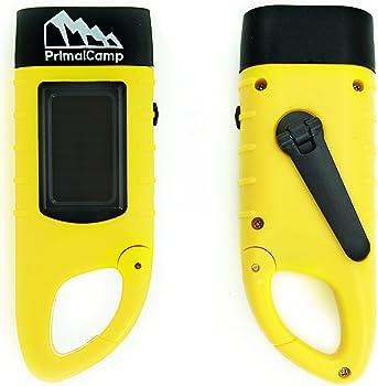PrimalCamp Hand-crank Flashlight