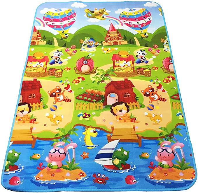 SIMPVALE alfombra de beb/é espuma juego juguete actividades para beb/é ni/ño Age dise/ño Picnic Blanke dibujo alfabeto n/úmeros animales 180x120x0.5 cm