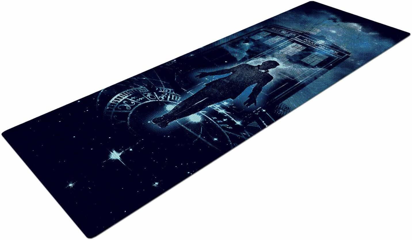 Kess InHouse Frederic Levy-Hadida Time Traveller Blue Fantasy Yoga Mat 72 X 24