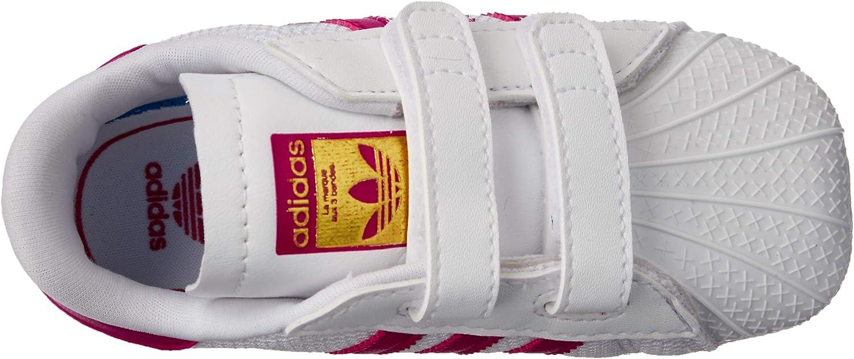 adidas Unisex Baby Superstar Crib S79917 Krabbelschuhe, weiß