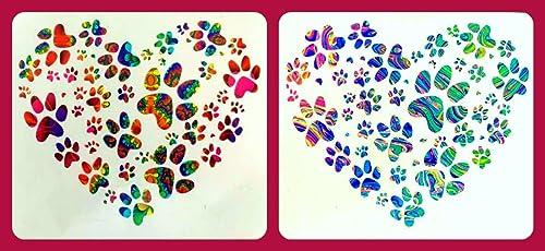 Custom Paw Print Heart Vinyl Decal Sticker Car Window