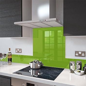 premier range lime green colour splashback glass upstand 140 x