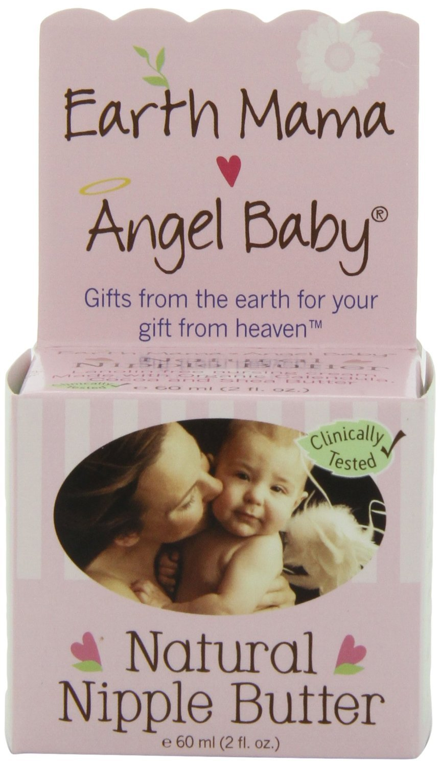 Earth Mama Super Pack Angel Baby Natural Nipple Butter, New Value Pack Size 5 Packs (2 ounce each)