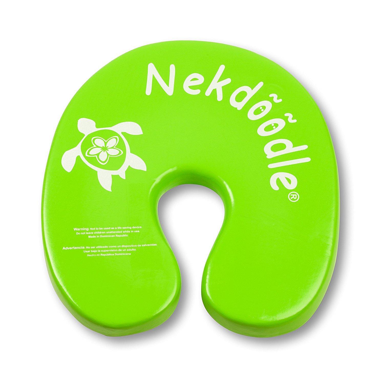 Nekdoodle Swimming Pool Float Aqua Aerobics & Fitness - Water Training & Exercises - Fun & Recreational Pool Toy - Fits Adults Kids - Lime Green Sea Turtle