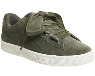 great puma suede heart vr femme baskets mode vert with puma taille grand ou  petit