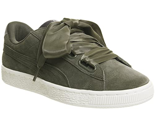 0f02ad339b7 Puma Women s Suede Heart Velvet Rope 365111-01 Trainers Grey  Amazon ...