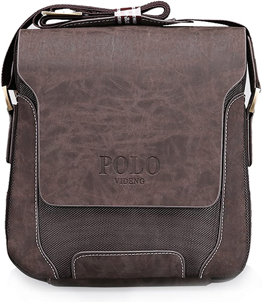 Pequeña bolsa bandolera de hombro Videng de Polo, de cuero y tela ...