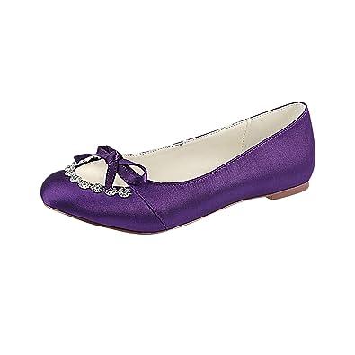 Amazon Com Emily Bridal Peep Wedding Shoes Ivory Flat