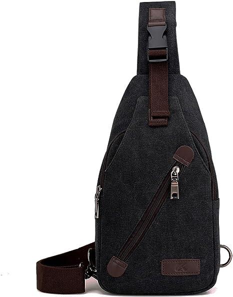 Chest Shoulder Bag Lightweight Sling Backpack Crossbody For Men Women Anti KHAKI