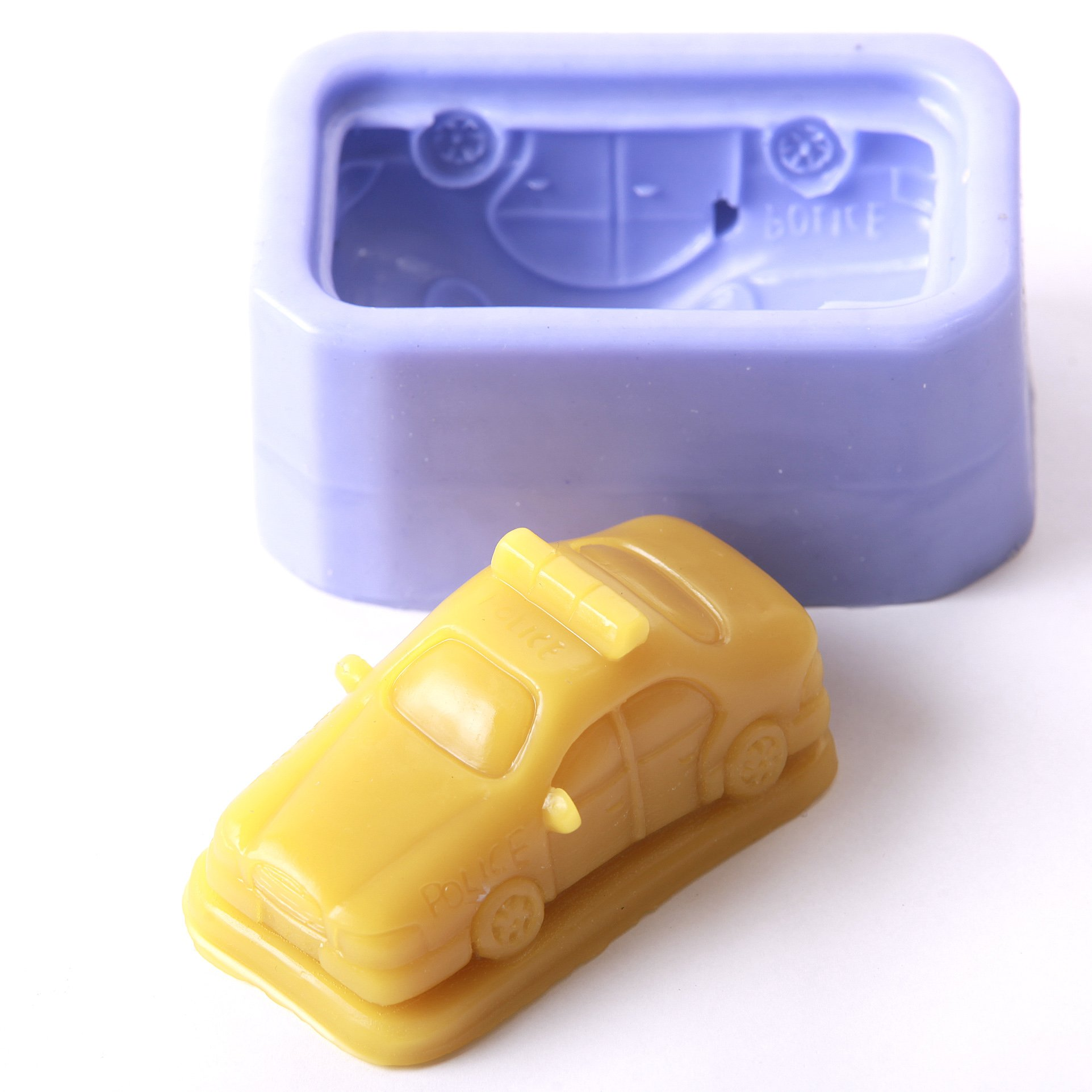 Police Car Silicone Mould x 10