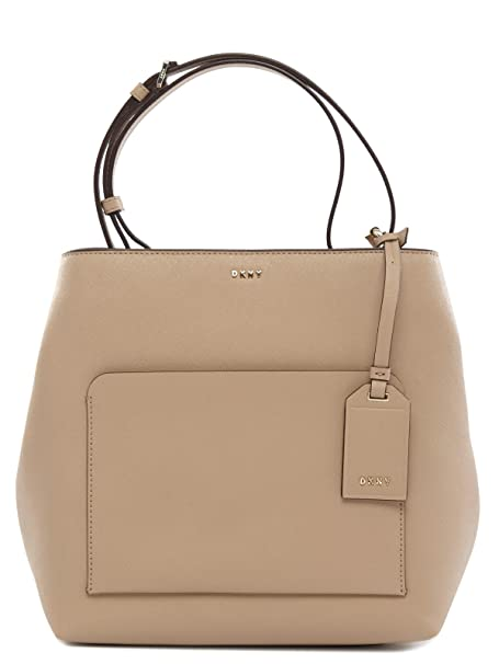 DKNY - Cartera para mujer de Piel Mujer, color beige, talla talla única: Amazon.es: Ropa y accesorios