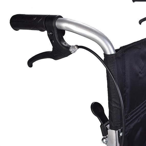 Silla de ruedas ligera con frenos y cinturón de seguridad ECTR08: Amazon.es: Salud y cuidado personal